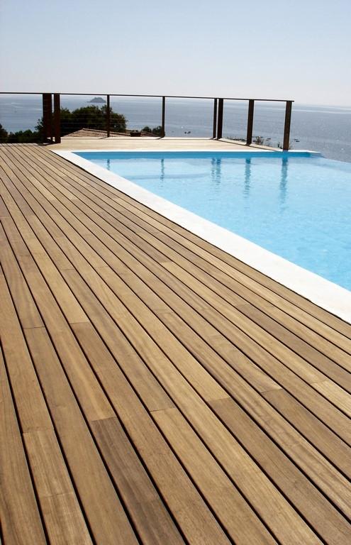 Plancher ext rieur massif padouk brut 100 x 20 mm for Plancher exterieur
